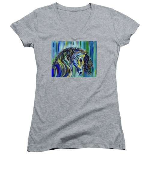 Paint Native American Horse Women's V-Neck T-Shirt