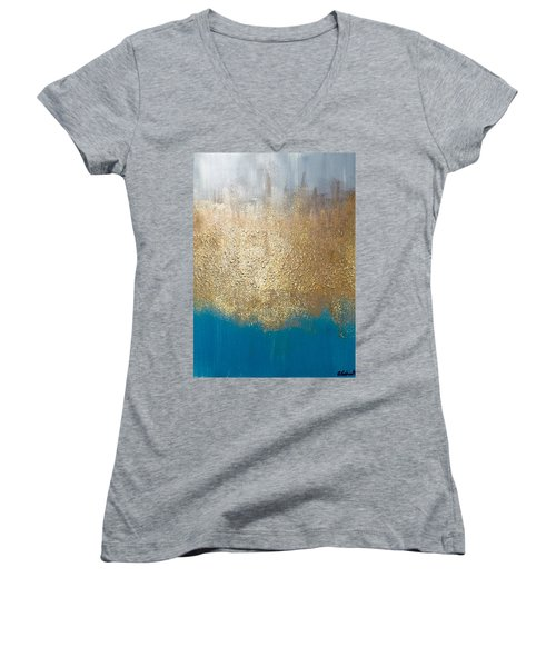 Paint The Sky Gold Women's V-Neck