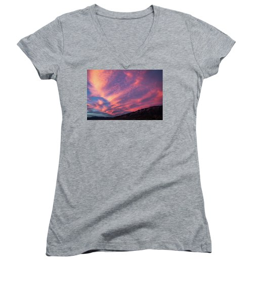 painted by Sun Women's V-Neck T-Shirt