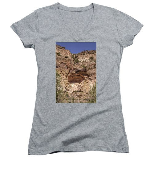 Painted Cave Ancient Art Women's V-Neck