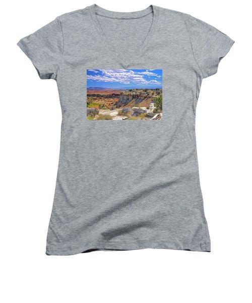 Painted Desert Of Utah Women's V-Neck