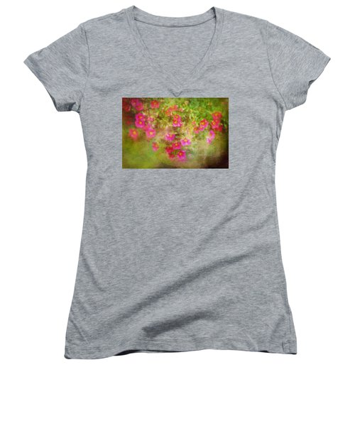 Painted Flowers Women's V-Neck