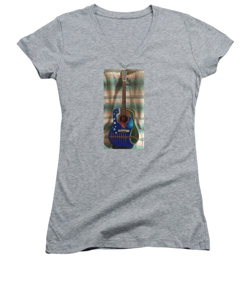 Painted Guitar Women's V-Neck T-Shirt