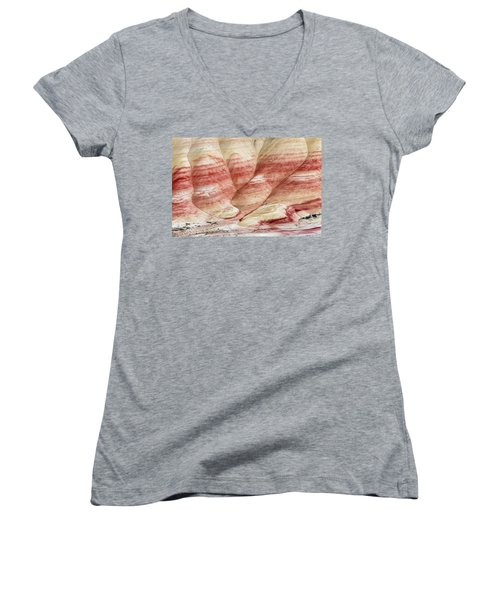 Women's V-Neck T-Shirt (Junior Cut) featuring the photograph Painted Hill Bumps by Greg Nyquist