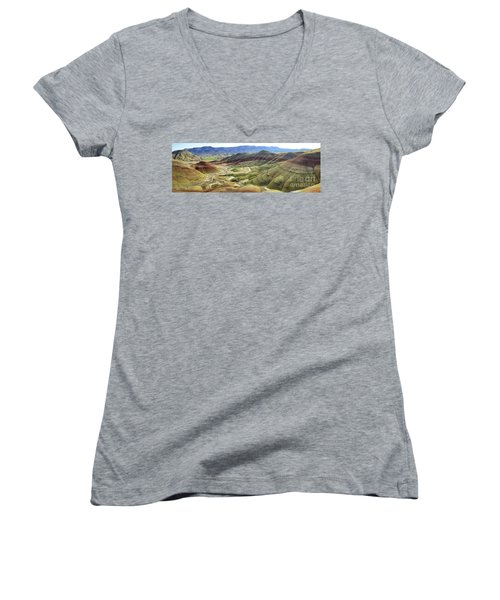 Painted Hills Panorama  Women's V-Neck (Athletic Fit)