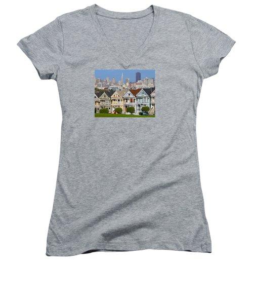 Painted Ladies Women's V-Neck T-Shirt