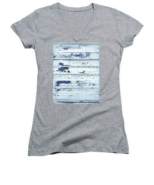 Painted Metal Surafce Women's V-Neck (Athletic Fit)