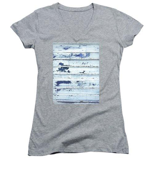 Painted Metal Surafce Women's V-Neck T-Shirt