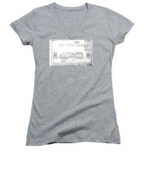 Painting And Lettering Diagramgp30 Women's V-Neck (Athletic Fit)