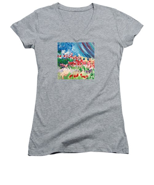 A Corner Of Her Women's V-Neck T-Shirt (Junior Cut) by Charity Janisse