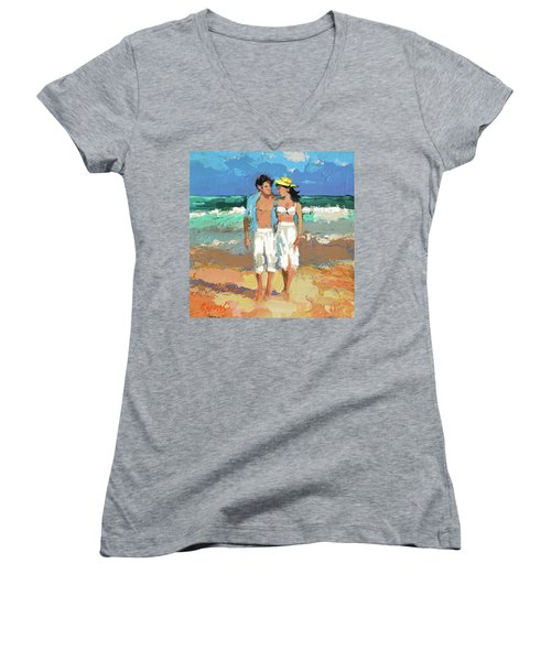 Pair By The Sea Women's V-Neck (Athletic Fit)