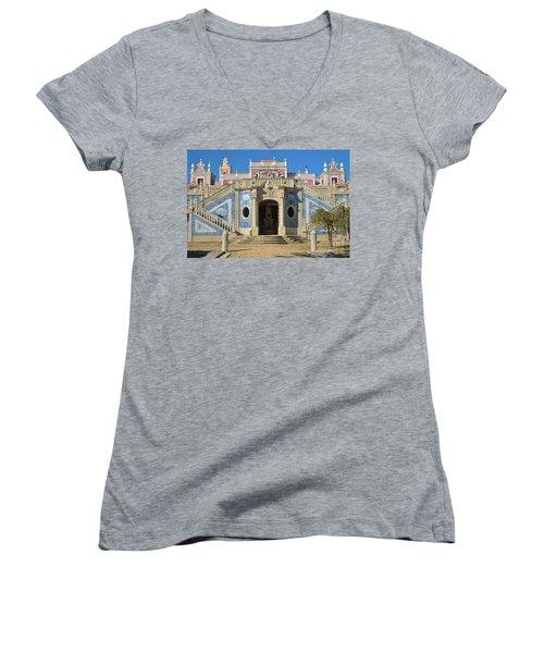 Palacio De Estoi Front View Women's V-Neck T-Shirt (Junior Cut) by Angelo DeVal