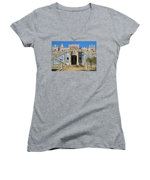 Palacio De Estoi Front View Women's V-Neck (Athletic Fit)