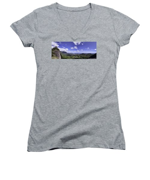 Pali Lookout Panorama Women's V-Neck