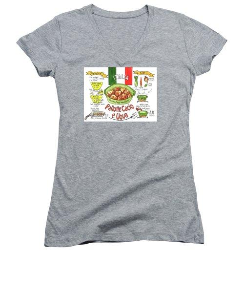 Pallotte Cacio Women's V-Neck T-Shirt (Junior Cut)