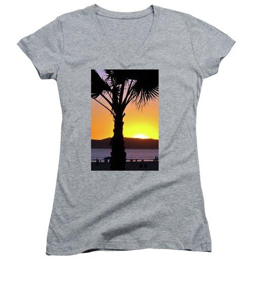 Palm At Sunset Women's V-Neck