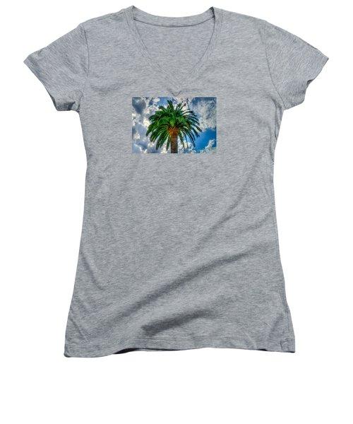 Palm Women's V-Neck T-Shirt (Junior Cut) by Derek Dean