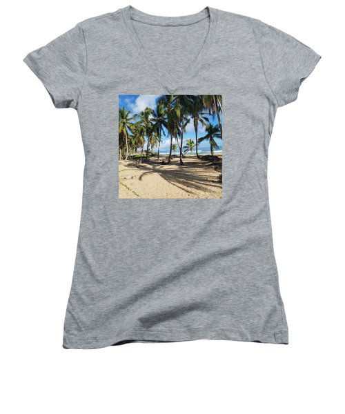 Palm Tree Family Women's V-Neck (Athletic Fit)