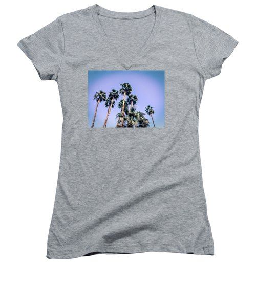 Palm Trees Palm Springs Summer Women's V-Neck (Athletic Fit)