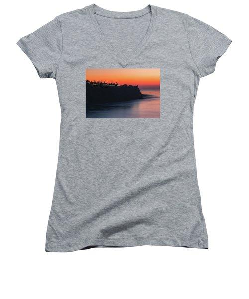 Palos Verdes Coast After Sunset Women's V-Neck