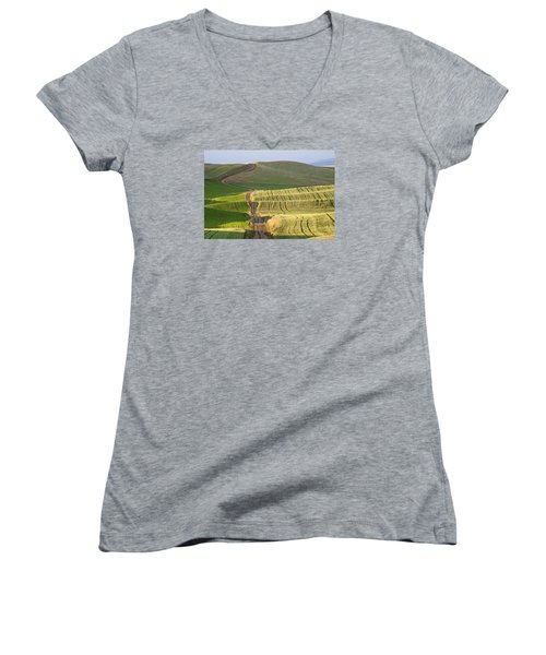 Palouse Backroads Women's V-Neck (Athletic Fit)