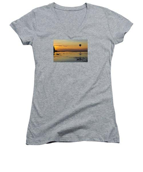Pammukale Sunset Women's V-Neck T-Shirt