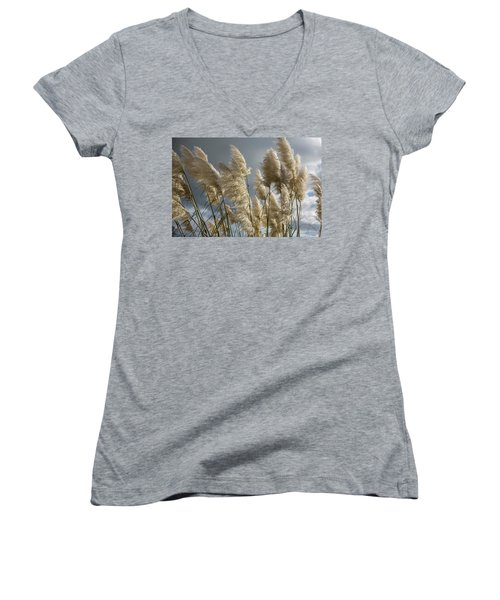 Pampas Grass Women's V-Neck (Athletic Fit)