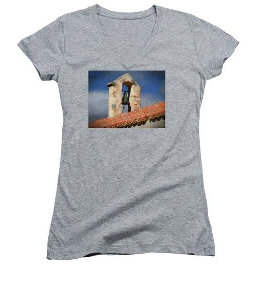 Panagia Kera Women's V-Neck T-Shirt (Junior Cut) by Alex Galkin