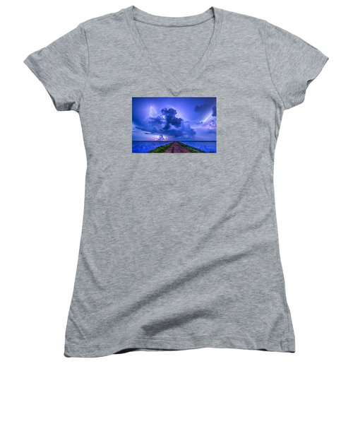 Panhandle Flood Women's V-Neck T-Shirt