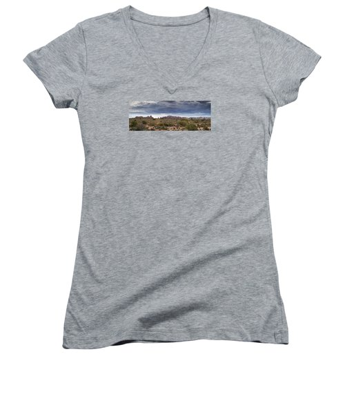 Panoramic View At Arches National Park Women's V-Neck