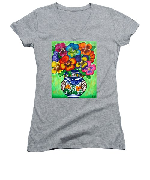 Pansy Parade Women's V-Neck (Athletic Fit)