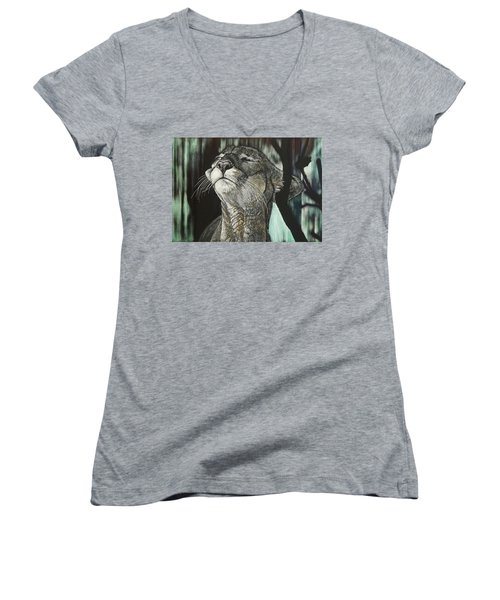 Panther, Cool Women's V-Neck