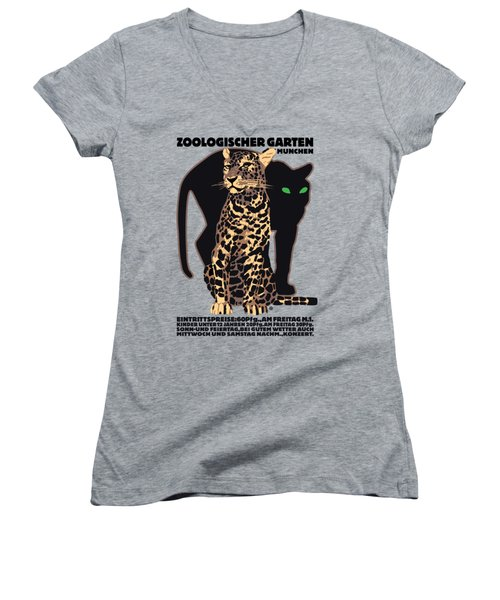 Panther Women's V-Neck (Athletic Fit)