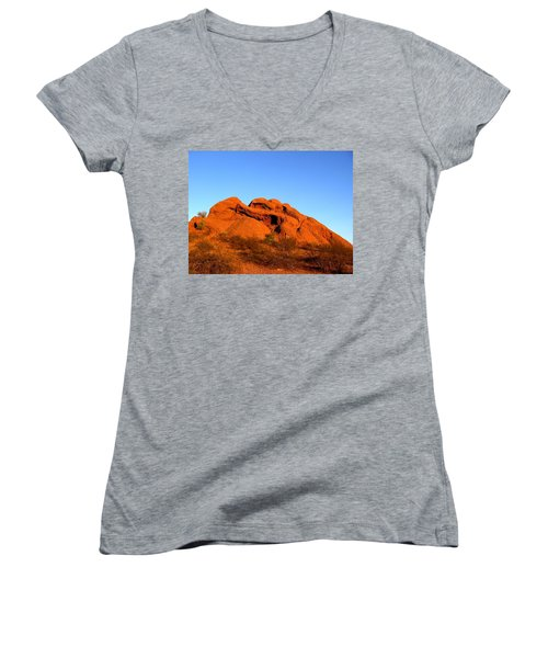 Women's V-Neck featuring the photograph Papago Park 2 by Michelle Dallocchio
