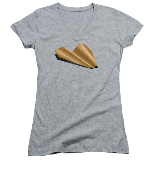 Paper Airplanes Of Wood 6 Women's V-Neck (Athletic Fit)