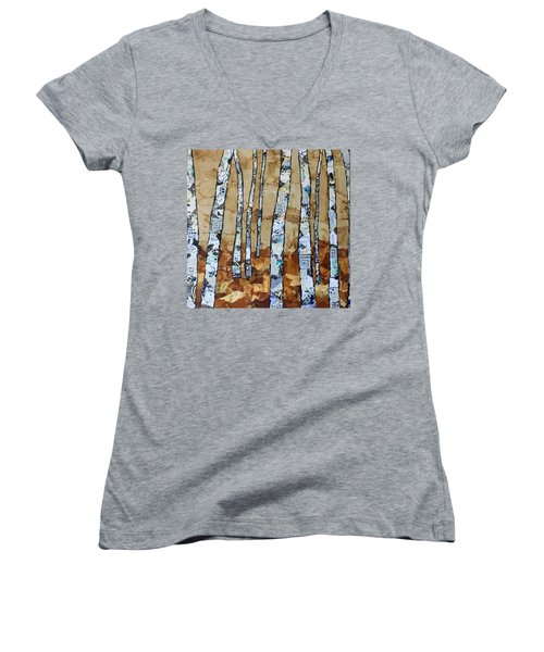 Paper Birch 3 Women's V-Neck T-Shirt
