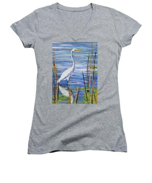 Paper Crane Women's V-Neck T-Shirt (Junior Cut)