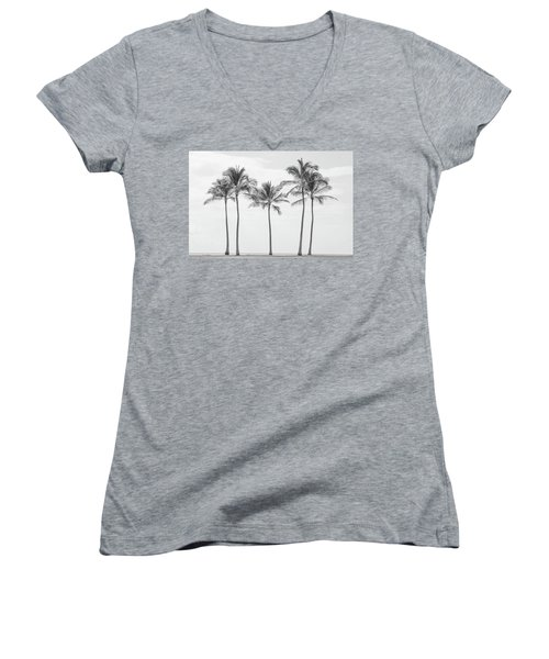 Paradise In Black And White II Women's V-Neck