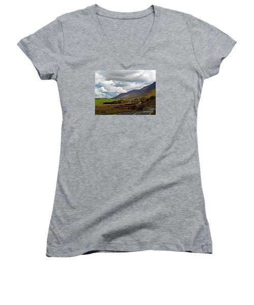 Paradise In Ireland Women's V-Neck T-Shirt (Junior Cut) by Patricia Griffin Brett