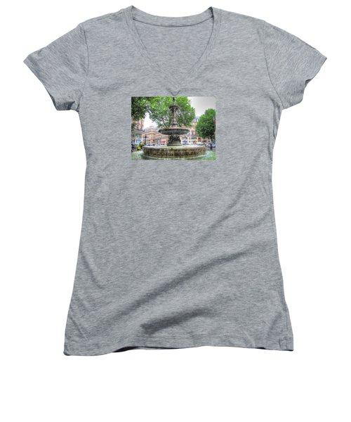 Paris Fontane Women's V-Neck T-Shirt (Junior Cut) by Yury Bashkin