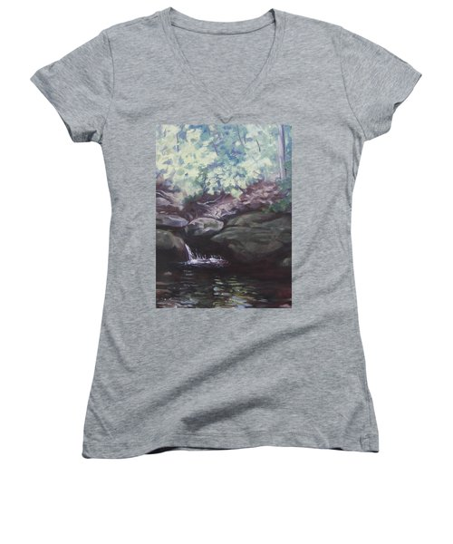 Paris Mountain Waterfall Women's V-Neck