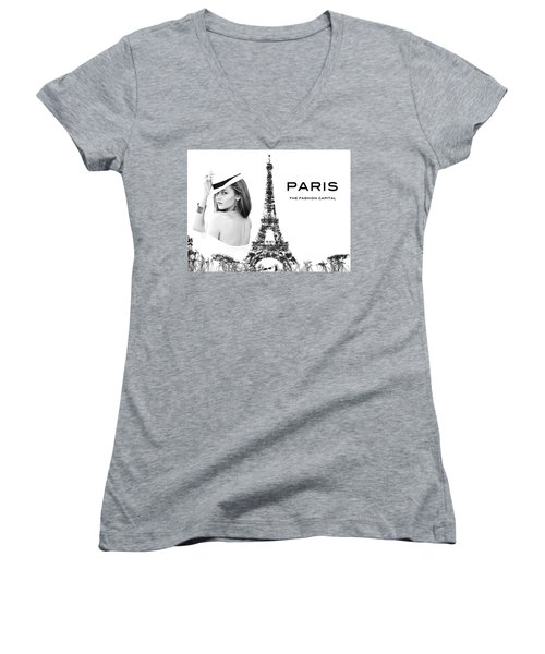 Paris The Fashion Capital Women's V-Neck