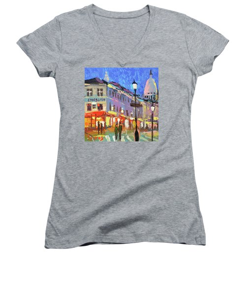 Parisian Street Women's V-Neck (Athletic Fit)