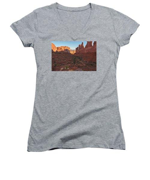 Park Avenue Sunrise Women's V-Neck T-Shirt
