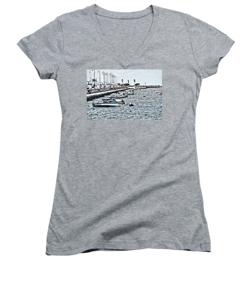Parked And Waiting Women's V-Neck T-Shirt (Junior Cut)