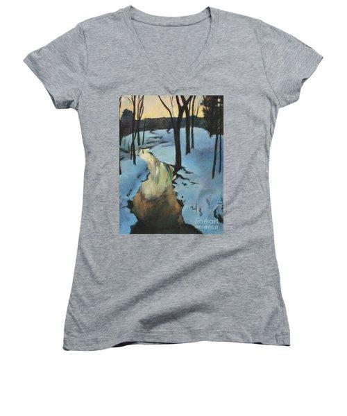 Parlee Farm Sunset Creek Women's V-Neck T-Shirt