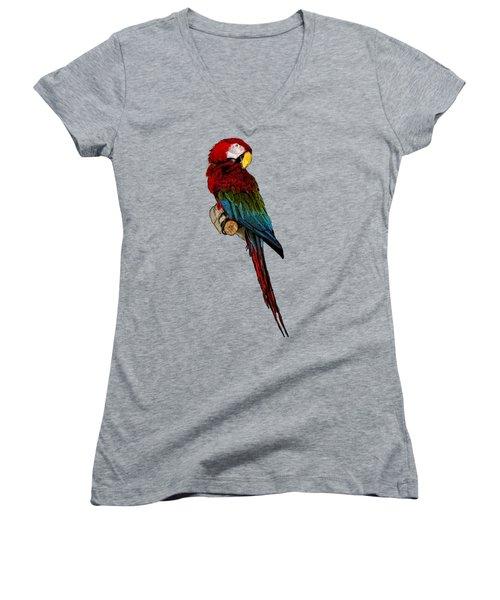 Parrot Art Women's V-Neck