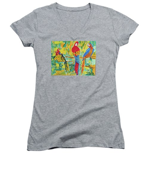 Parrots Women's V-Neck