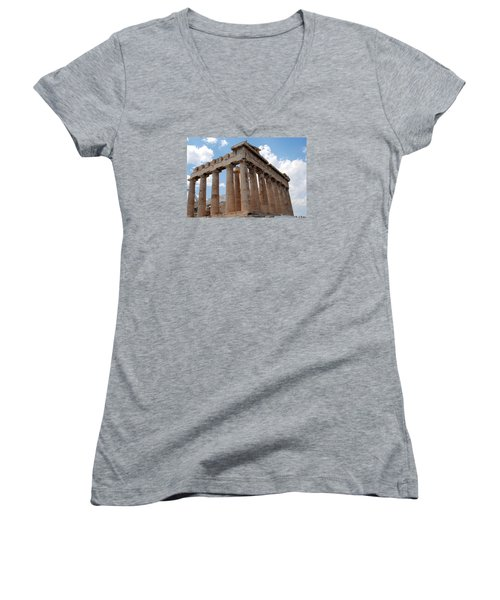 Parthenon Side View Women's V-Neck T-Shirt