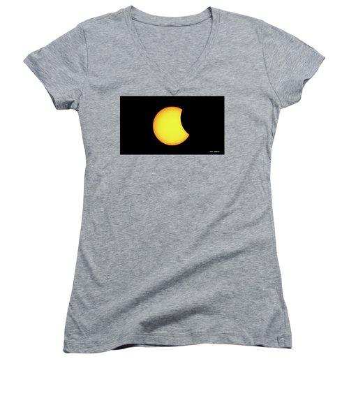 Partial Eclipse 1 Women's V-Neck T-Shirt